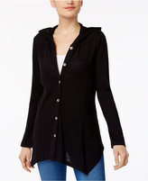 Style&Co. Style & Co Hooded Handkerchief-Hem Jacket, Created for Macy's