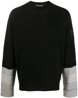 Neil Barrett Stripe-Detail Wool Jumper