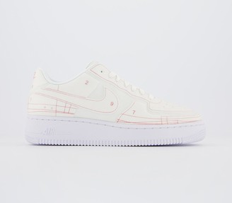 Nike Force 1 07 Trainers Summit White University Red Lx F