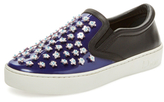 Christian Dior Floral Leather Slip-On Sneaker