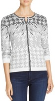 Foxcroft Houndstooth Cardigan Sweater
