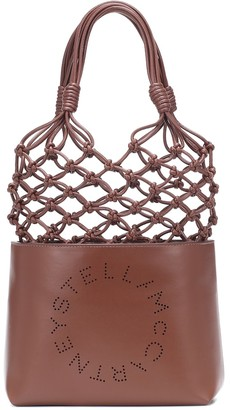 Stella McCartney Logo faux-leather tote