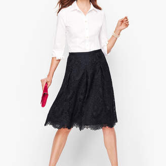 Talbots Pleated Lace Full Skirt