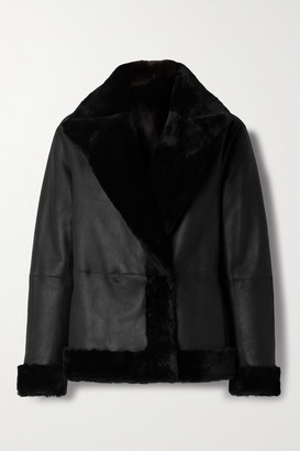 Theory Clairene Reversible Shearling Jacket - Black