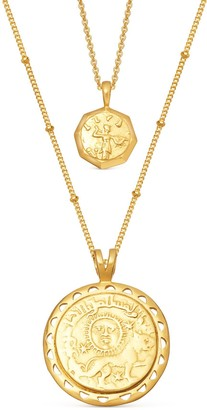 Missoma Gold Ode to Rome Coin Necklace Set