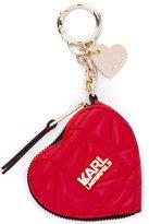 Karl Lagerfeld zipped heart keyring purse - women - Leather - One Size