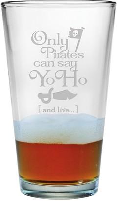 Susquehanna Glass Pirates Can Say Yo Ho And Live Single Pint Glasses 16 oz