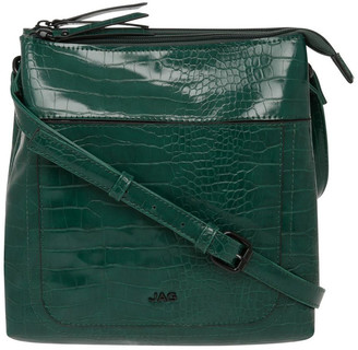 Jag Samantha Croc Zip Top Crossbody Bag