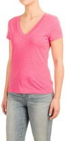 Specially made Knit V-Neck Shirt - Short Sleeve (For Women)