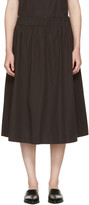 Edit Black Elasticized Skirt