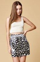 MinkPink Sumatran Flippy Satin Skirt