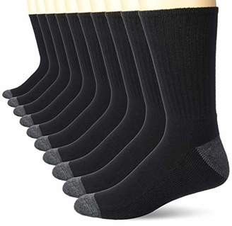 Amazon Essentials 10-pack Cotton Half Cushioned Crew Socks10-13