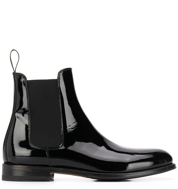 Black Patent Chelsea Boots   Shop the