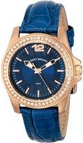 Tommy Bahama Swiss Women's TB2129 Riviera Strap Silver Dial Stone Bezel Watch