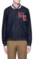 MAISON KITSUNÉ Logo patch check teddy jacket