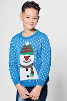 boohoo Boys Large Snowman Christmas Jumper