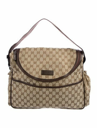 Gucci GG Canvas Diaper Bag Beige