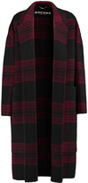Rochas Two-tone plaid wool and mohair-blend coat