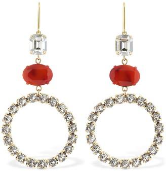 Isabel Marant Boy G Stone Crystal Small Hoop Earrings