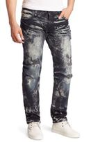 Robin's Jeans Distressed Cotton Slim-Fit Jeans