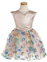 Halabaloo Toddler Girl's Floral Dot Dress