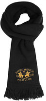 Yours Clothing SANTA MONICA Black Knitted Scarf With Tassels
