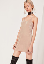 Missguided Petite Exclusive Pleated Cami Dress Pink