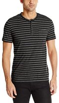 Kenneth Cole New York Men's Stripe Henley with Pocket Shirt