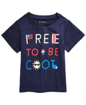 First Impressions Baby Boys Free to Be Cool Cotton T-Shirt, Created for Macy's