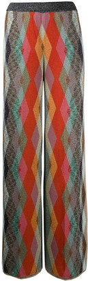Missoni straight argyle pattern trousers
