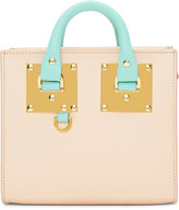 Sophie Hulme SSENSE Exclusive Pink & Blue Albion Box Tote