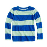 Lee Boys' long-sleeve ringer tee in wide stripe