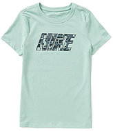 Nike Big Girls 7-16 Dri-FIT Short-Sleeve Printed Logo Tee