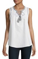 BB Dakota Embroidered Cotton Tank Top