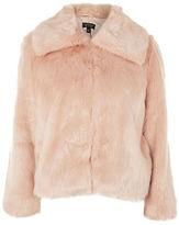 Topshop PETITE Faux Fur Coat
