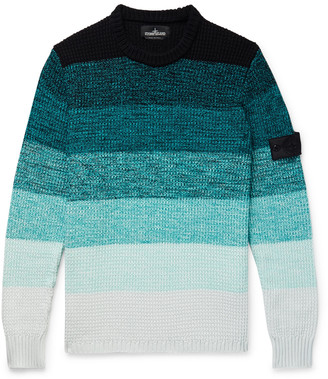 Stone Island Shadow Project Striped Degrade Cotton Sweater