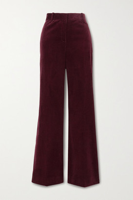 Bella Freud David Cotton-corduroy Wide-leg Pants - Burgundy