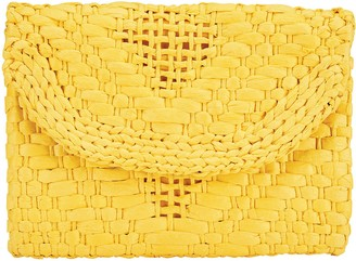 Bay Sky by San Diego Hat Woven Paper Clutch