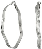 GUESS Dimpled Clutchless Hoop Earrings