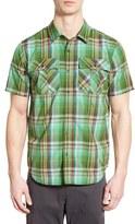 Prana Men's 'Ostend' Plaid Organic Cotton Blend Sport Shirt