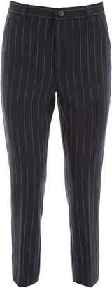 Ganni Pinstripe Suiting Slim Pants