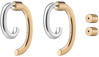 DEMARSON Luna Two-Tone Convertible Earrings