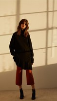 Tibi Merino Wool Flare Hem Sweater
