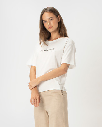 Cools Club - Women's White Basic T-Shirts - Cools Club Sunday Tee - Size One Size, 6 at The Iconic