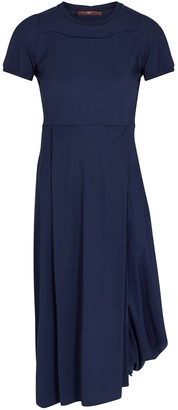 High Elitist navy stretch-jersey dress