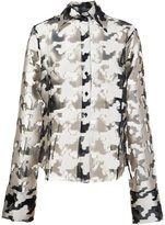 Marques Almeida Marques'almeida - oversized fil coupé houndstooth pattern shirt - women - Silk/Polyester - M