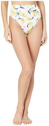 Jessica Simpson Nice Lemons Tie Back High Bottoms (Lemon Multi) Women's Swimwear