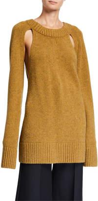 KHAITE Liz Cashmere Cutout Sweater