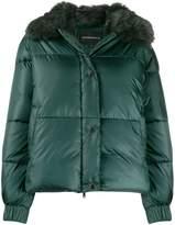 Emporio Armani faux-fur collar padded jacket