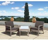 Atlantic Mykonos Grey Deluxe 3-piece Balcony Set